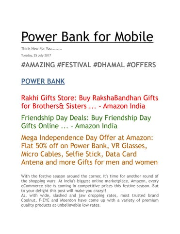 Power Bank For Mobile By Prakhar Rajput Issuu Gifts Sisters Birthday At Amazon India Gift Ideas Wife