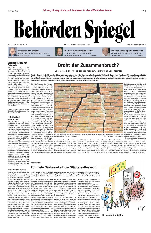 Behörden Spiegel September 2017 by propress - issuu