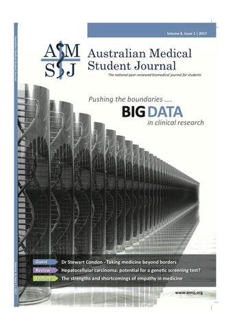 Amsj volume 8 issue 1 2017 by australian medical student journal page 1 fandeluxe Choice Image