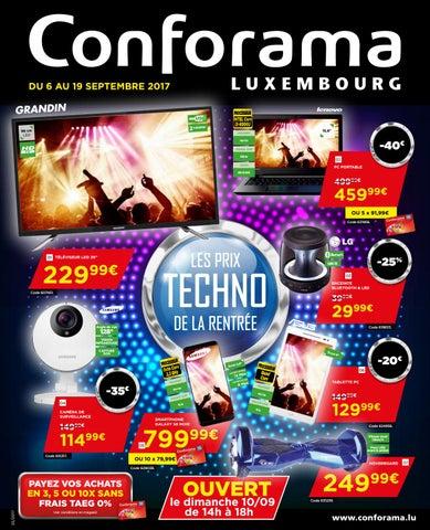 Doc 33 Les Prix Techno De La Rentrée By Conforama