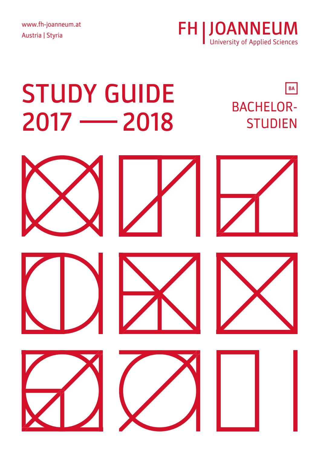 Study Guide 2017/2018 by FH JOANNEUM - University of Applied ...