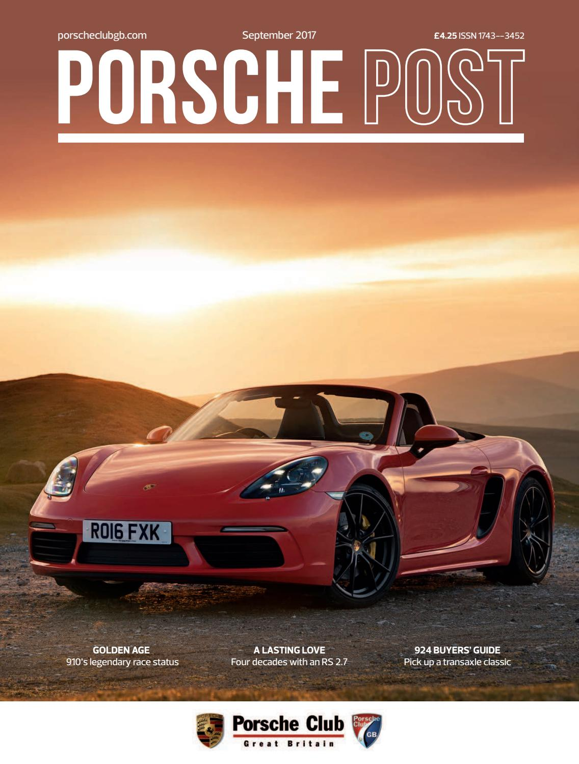 247747b65 Porsche Post September 2017 by Porsche Club Great Britain - issuu