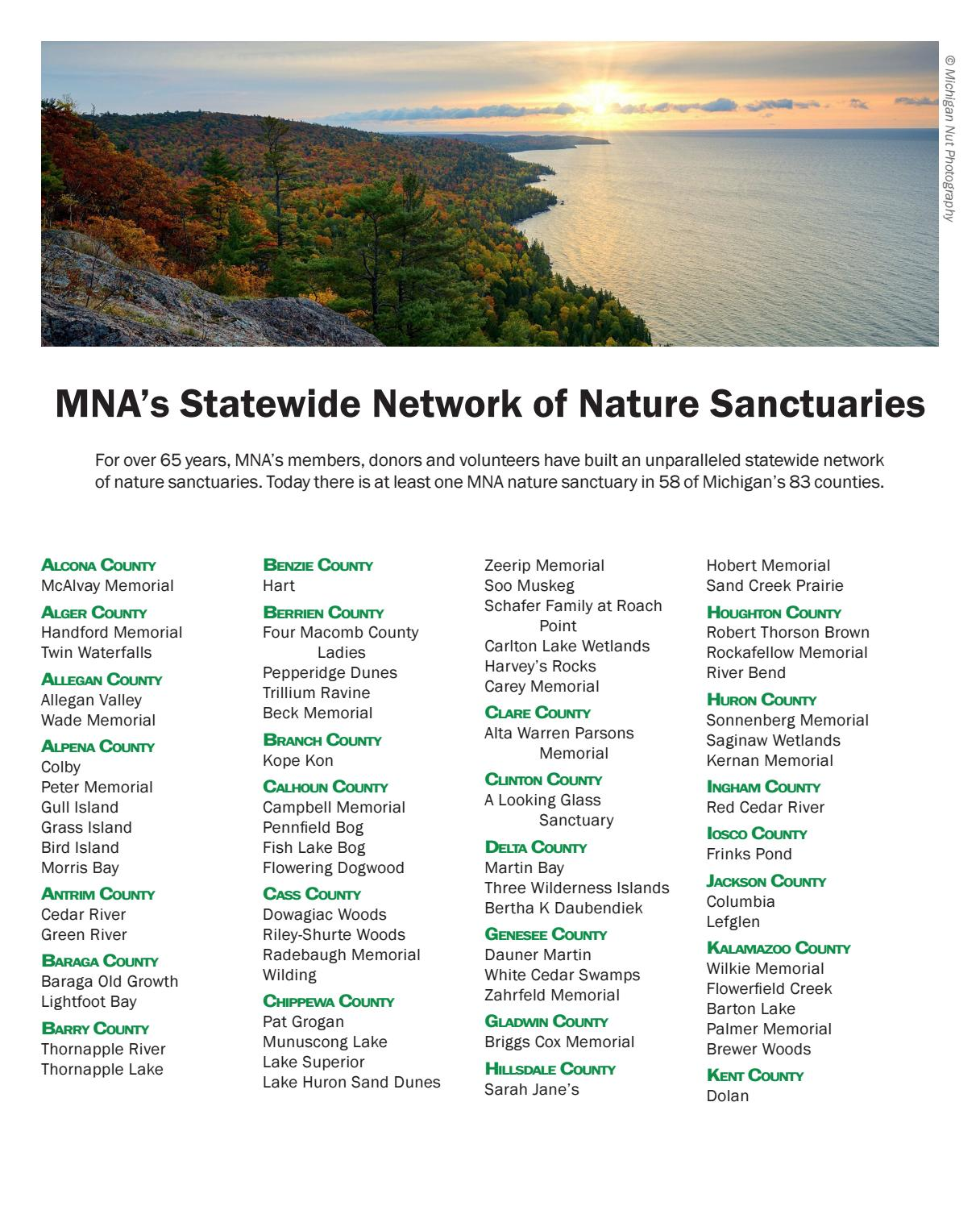 Michigan Nature Magazine Fall 2017 By Michigan Nature Association