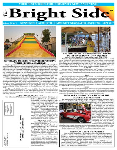 SEPTEMBER 2017 KENNESAW/ACWORTH Bright Side NEWSPAPER for COBB COUNTY