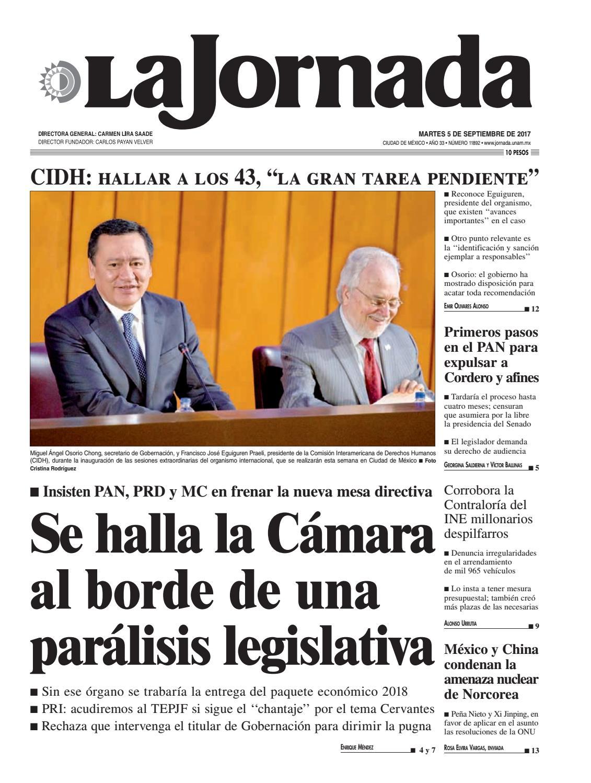 La Jornada, 09/05/2017 by La Jornada: DEMOS Desarrollo de Medios SA ...