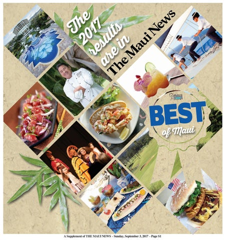 Best Of Maui 2017 By Publishing Company