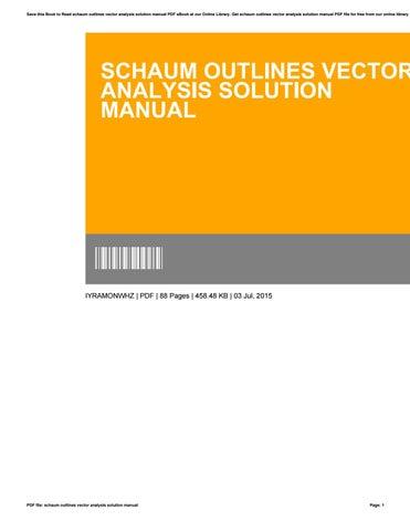 schaum outlines vector analysis solution manual by dianeking3534 issuu rh issuu com