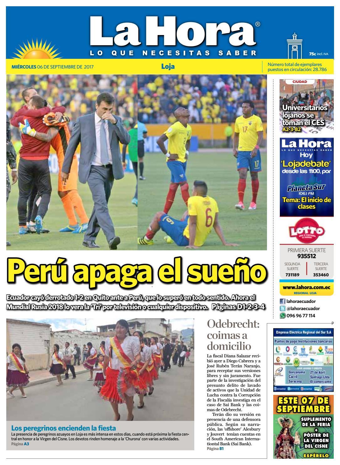 Diario La Hora Loja 06 De Septiembre 2017 By Diario La Hora  # Muebles Bailon Peligros