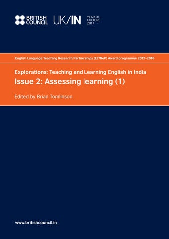 ELTReP Issue 2: Assessing learning (1) by British Council