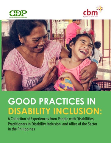 Good Practices in Disability Inclusion: A Collection of Experiences