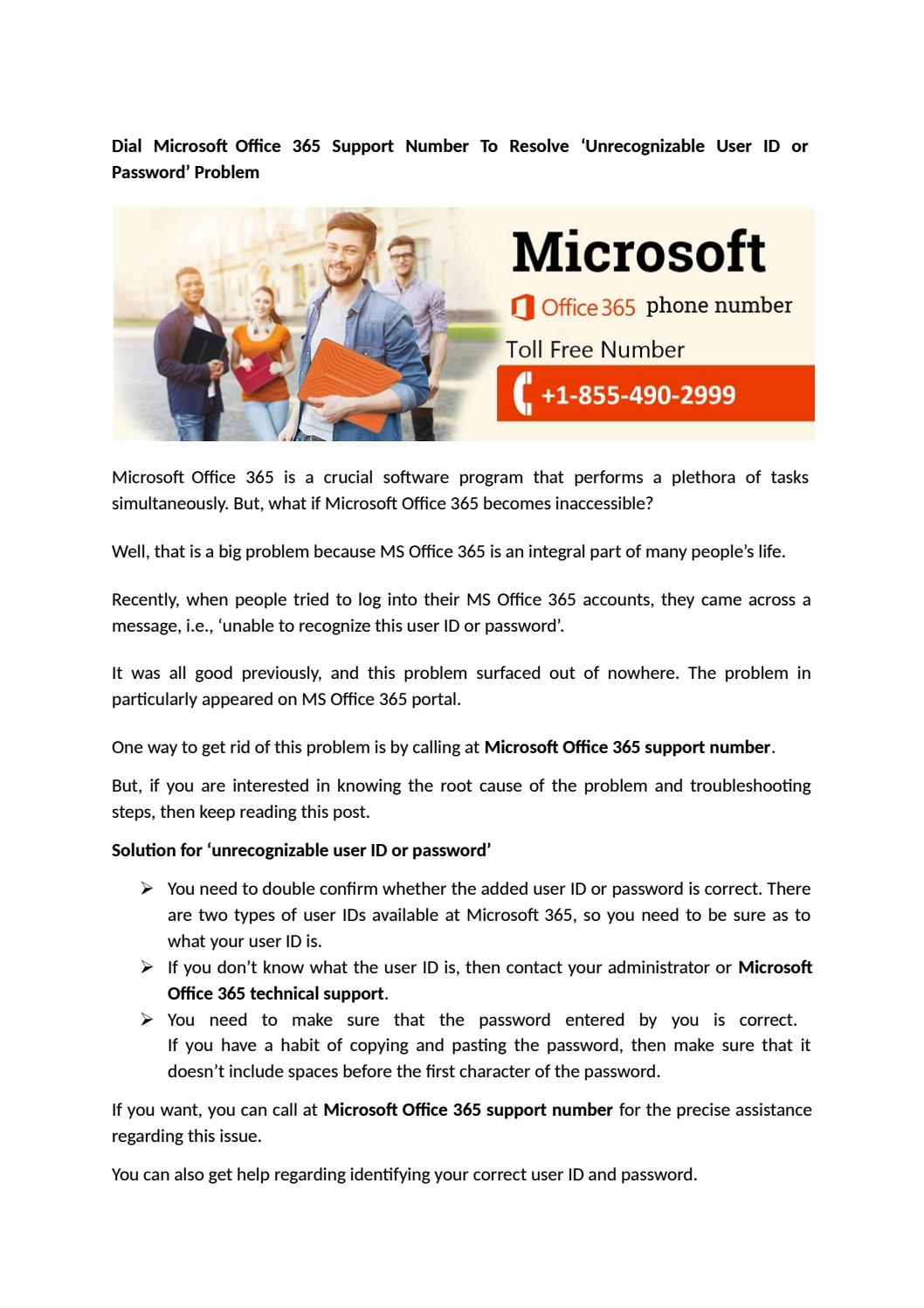 Microsoft office 365 customer care number +1-855-490-2999 by