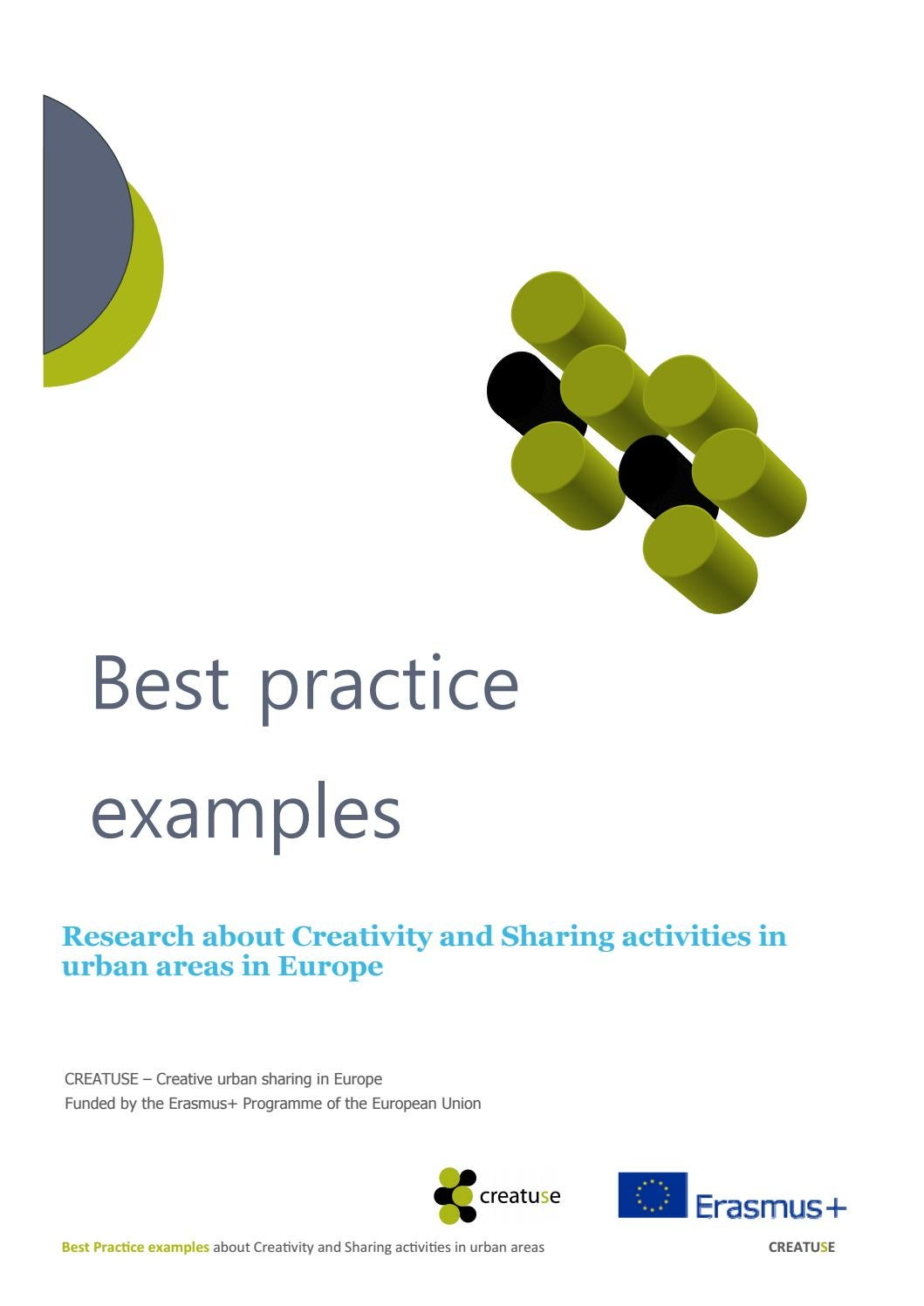 CREATUSE Best Practice Examples  Research about creativity
