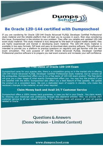 144 pdf 1z0 oracle dumps