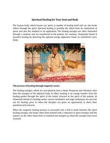 Spiritual Healing for Your Soul and Body by Chamunda Swamiji - issuu