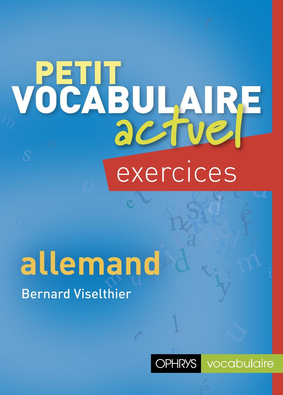 Petit vocabulaire actuel Exercices - Allemand - Editions ...