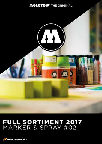 Molotow Full Sortiment 2017 Marker Spray 02 By Molotow