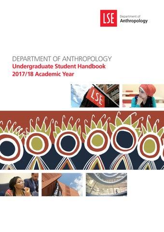 LSE Department of Anthropology - Undergraduate Student Handbook 2017/8
