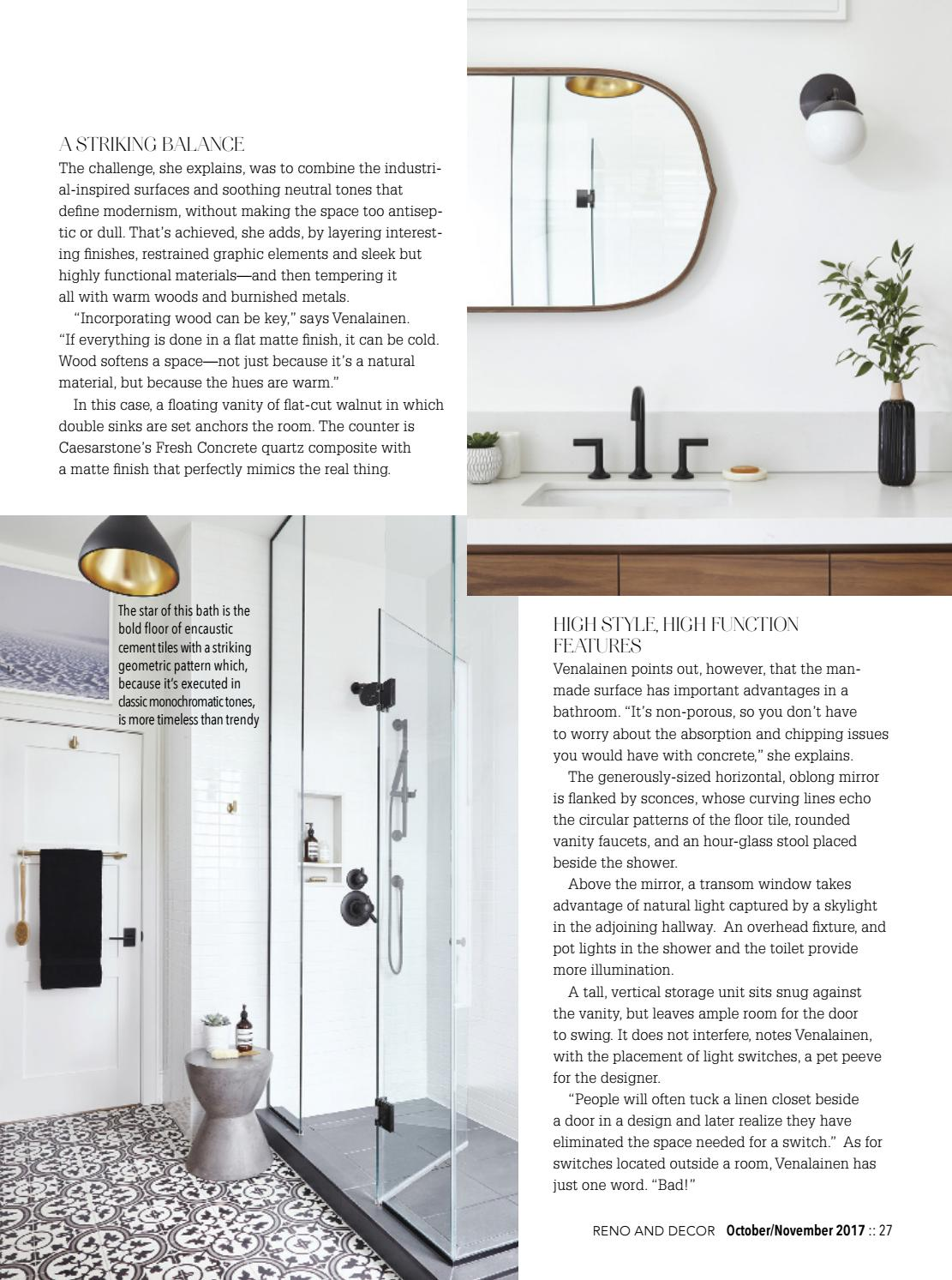 Reno U0026 Decor Magazine   Oct/Nov 2017 By HOMES Publishing Group   Issuu