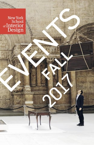 Fall Events 2017 By New York School Of Interior Design