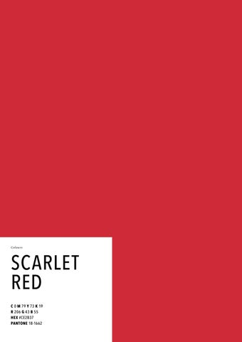 Page 1 Colou Rs Scarlet Red