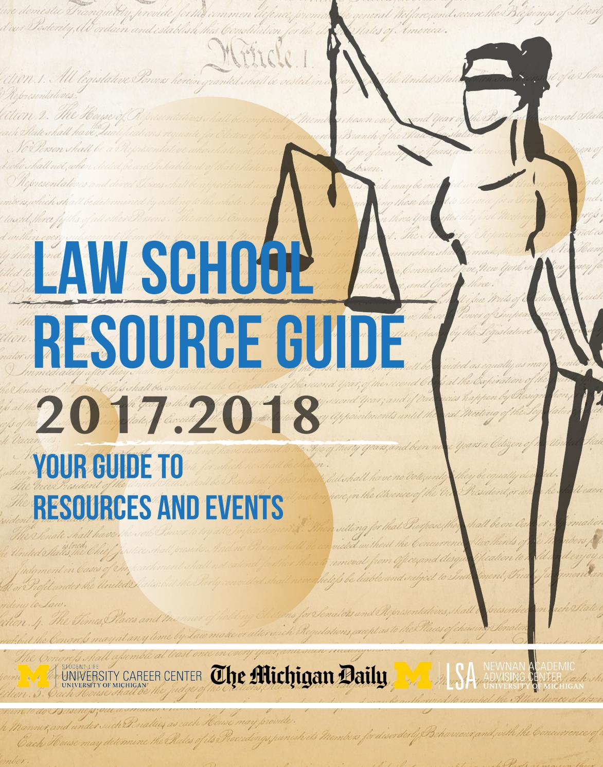 2017 Law School Resource Guide By The Michigan Daily Issuu