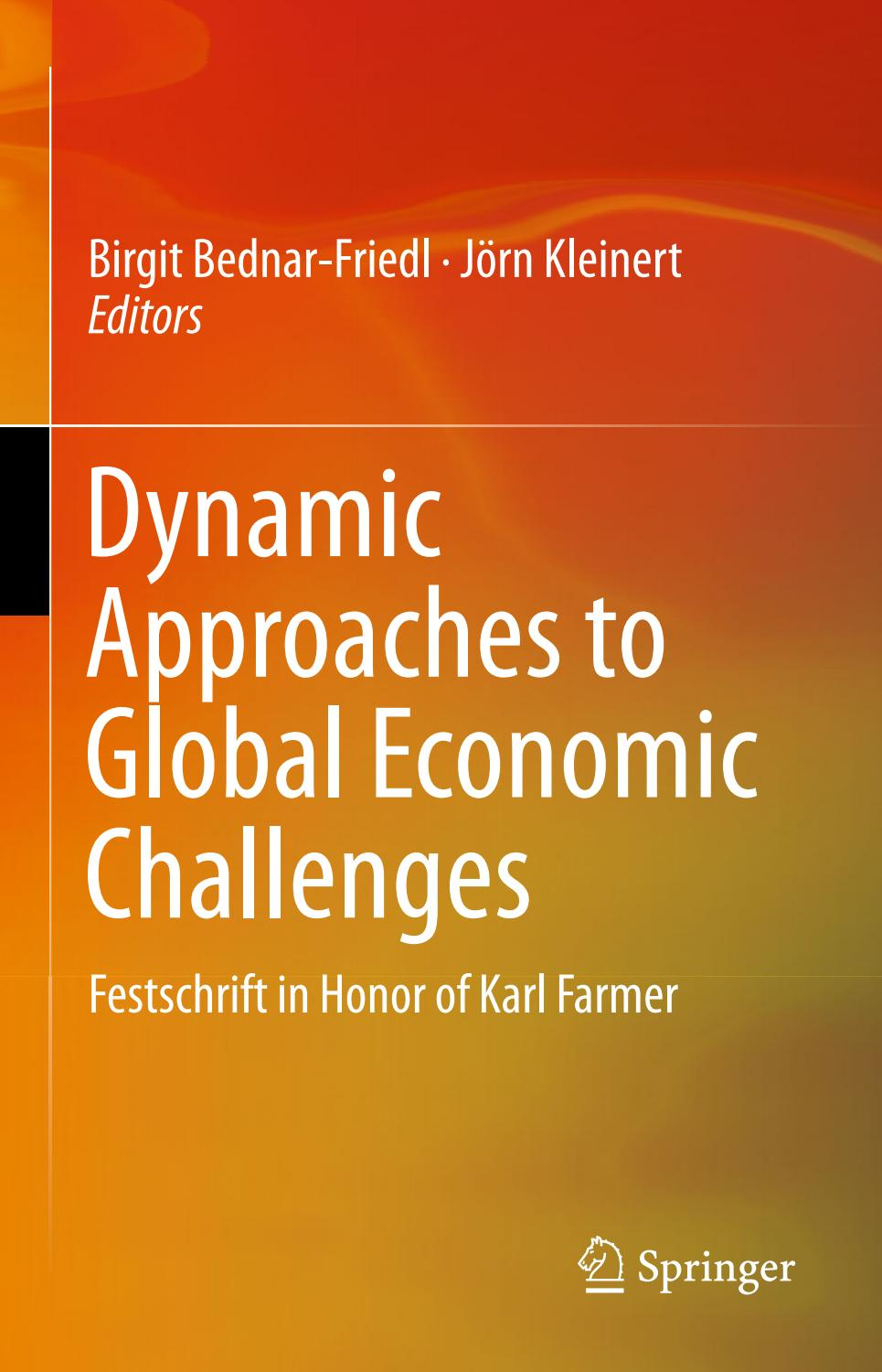 Dynamic approaches to global economic challenges by ...