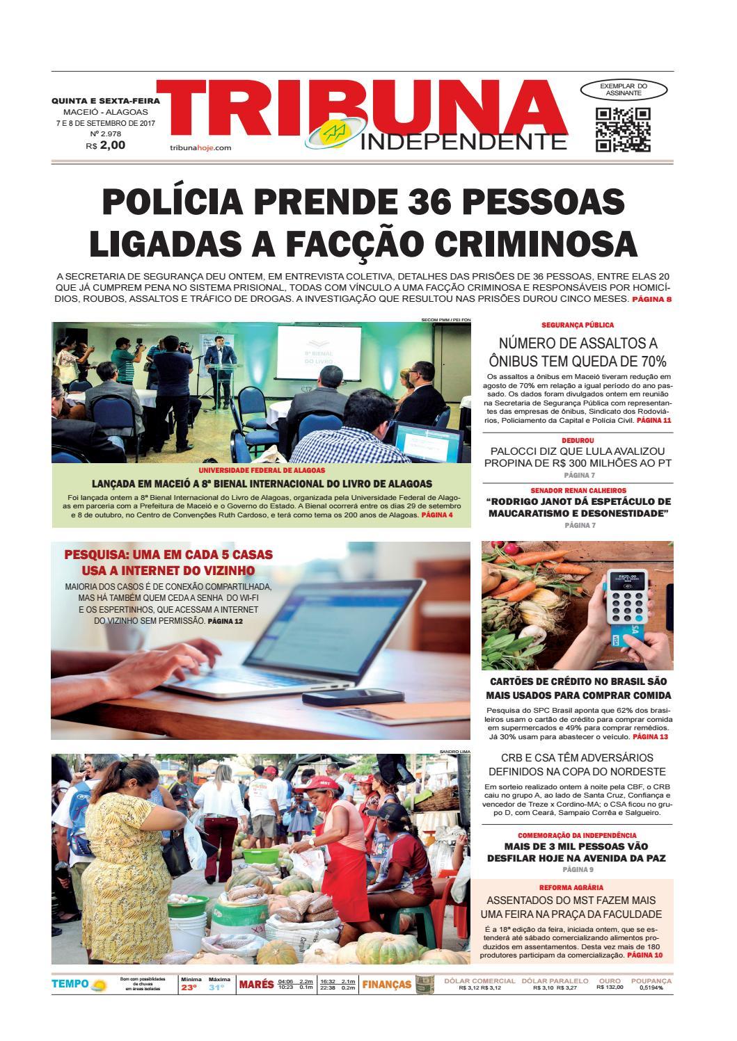3c29abc4c03 Edição número 2978 - 7 e 8 de setembro de 2017 by Tribuna Hoje - issuu
