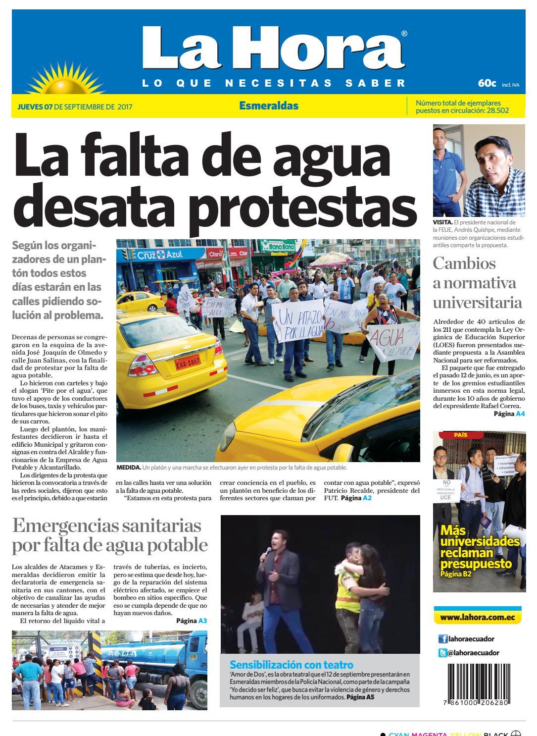 Esmeraldas 07 de septiembre de 2017 by Diario La Hora Ecuador - issuu