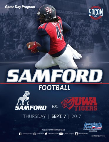 Samford vs. West Alabama Game Program