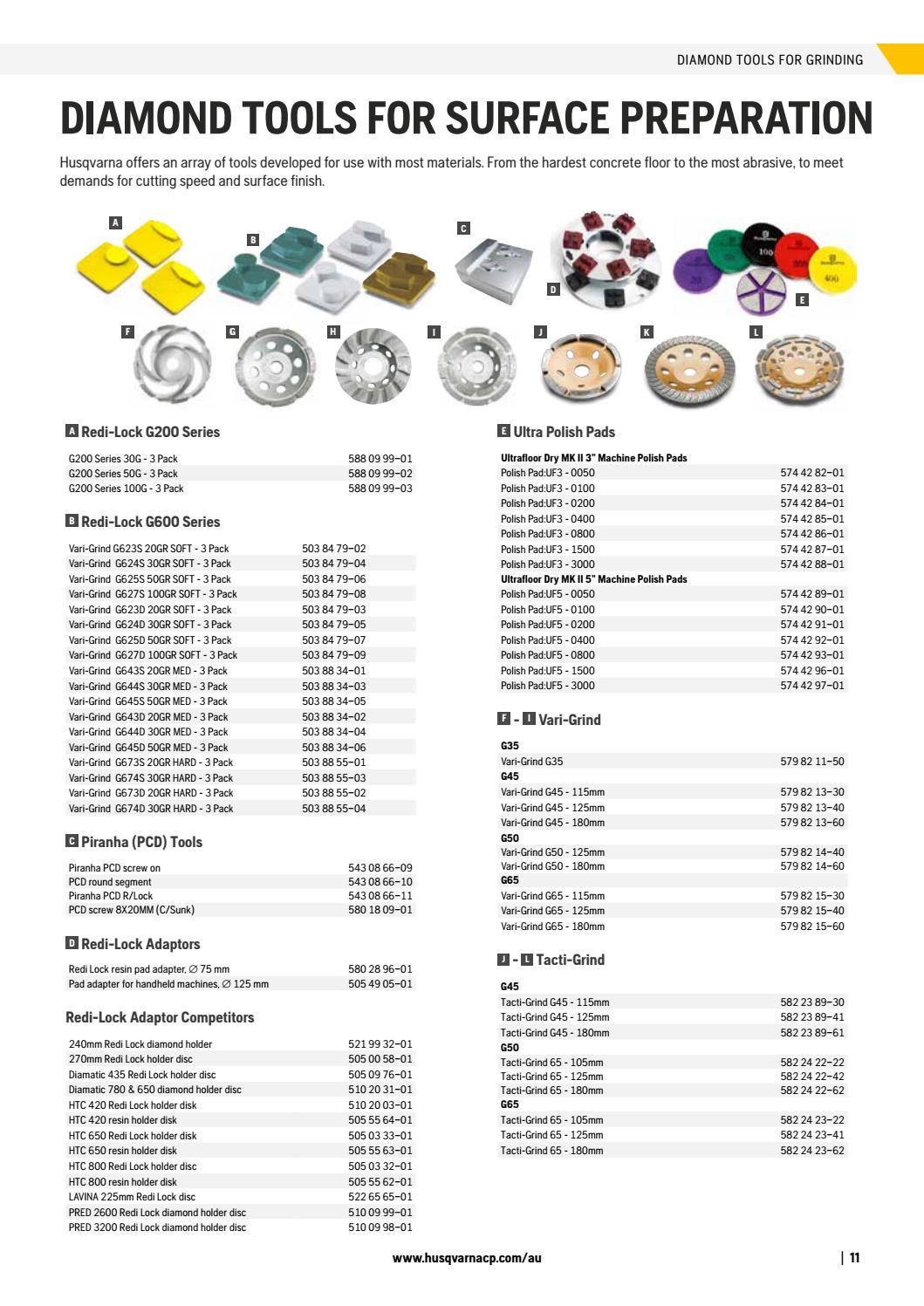 895b2da25f1349 Husqvarna Construction Products Accessories Catalogue 2017 by Husqvarna  Construction Products - issuu