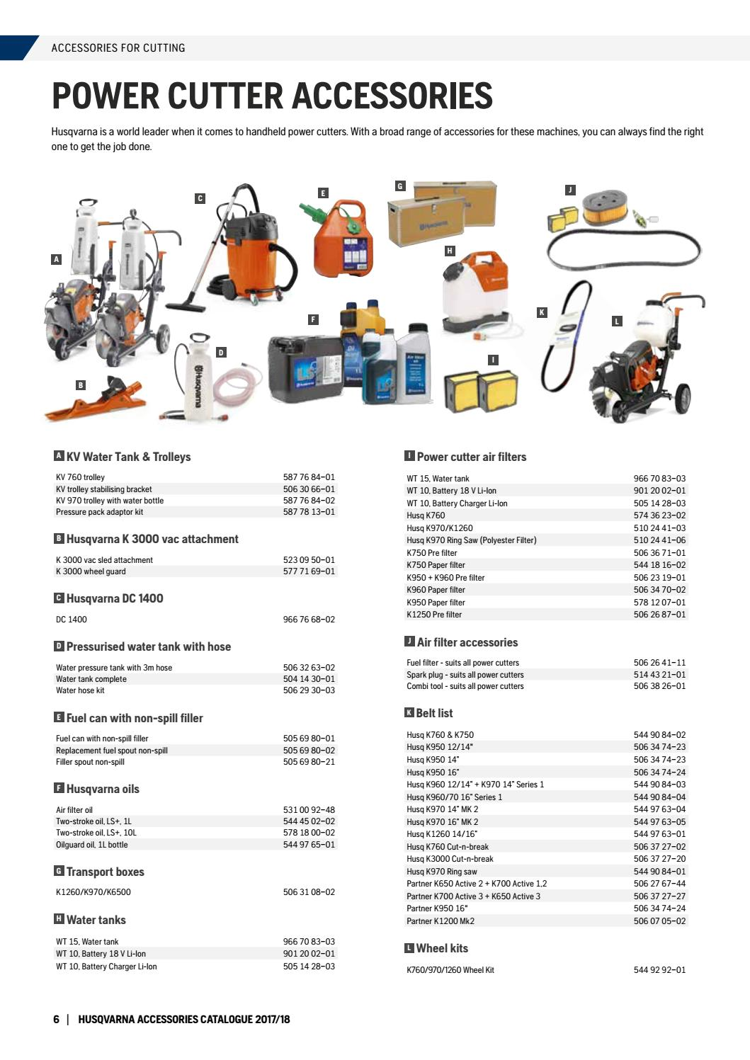 c4402d23c520ca Husqvarna Construction Products Accessories Catalogue 2017 by ...
