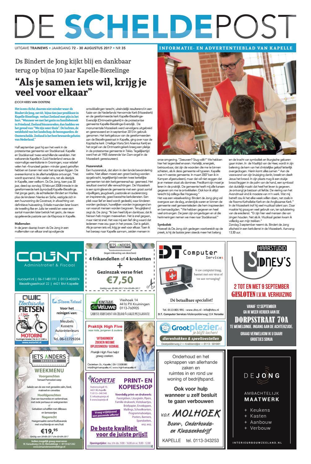 Scheldepost Week 35 By Trainews Issuu