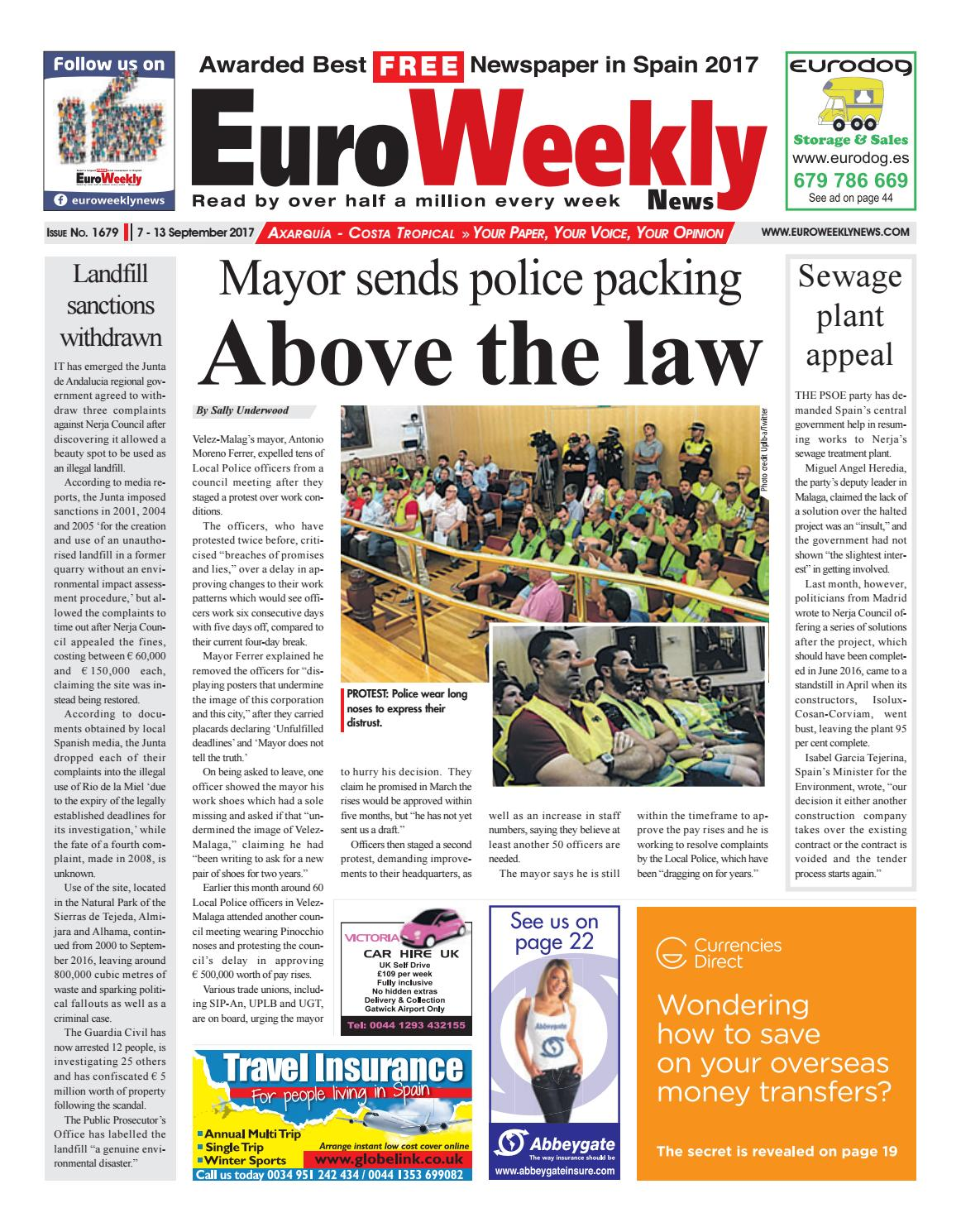 Euro Weekly News Axarquia 7 13 September 2017 Issue 1679
