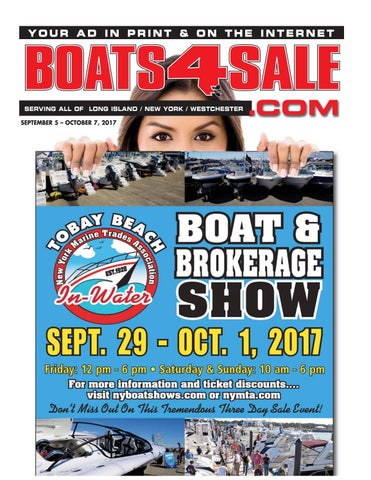 Seotember 5, 2017 boats 4 sale magazine by Boats4Sale com