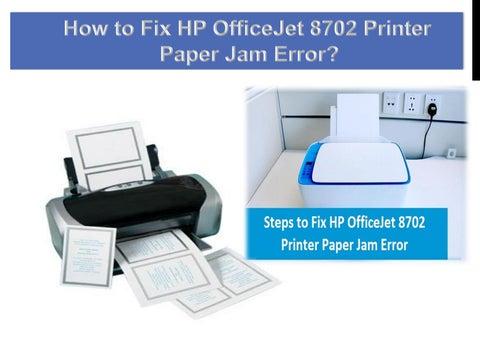 Hp 8710 Paper Jam No Paper