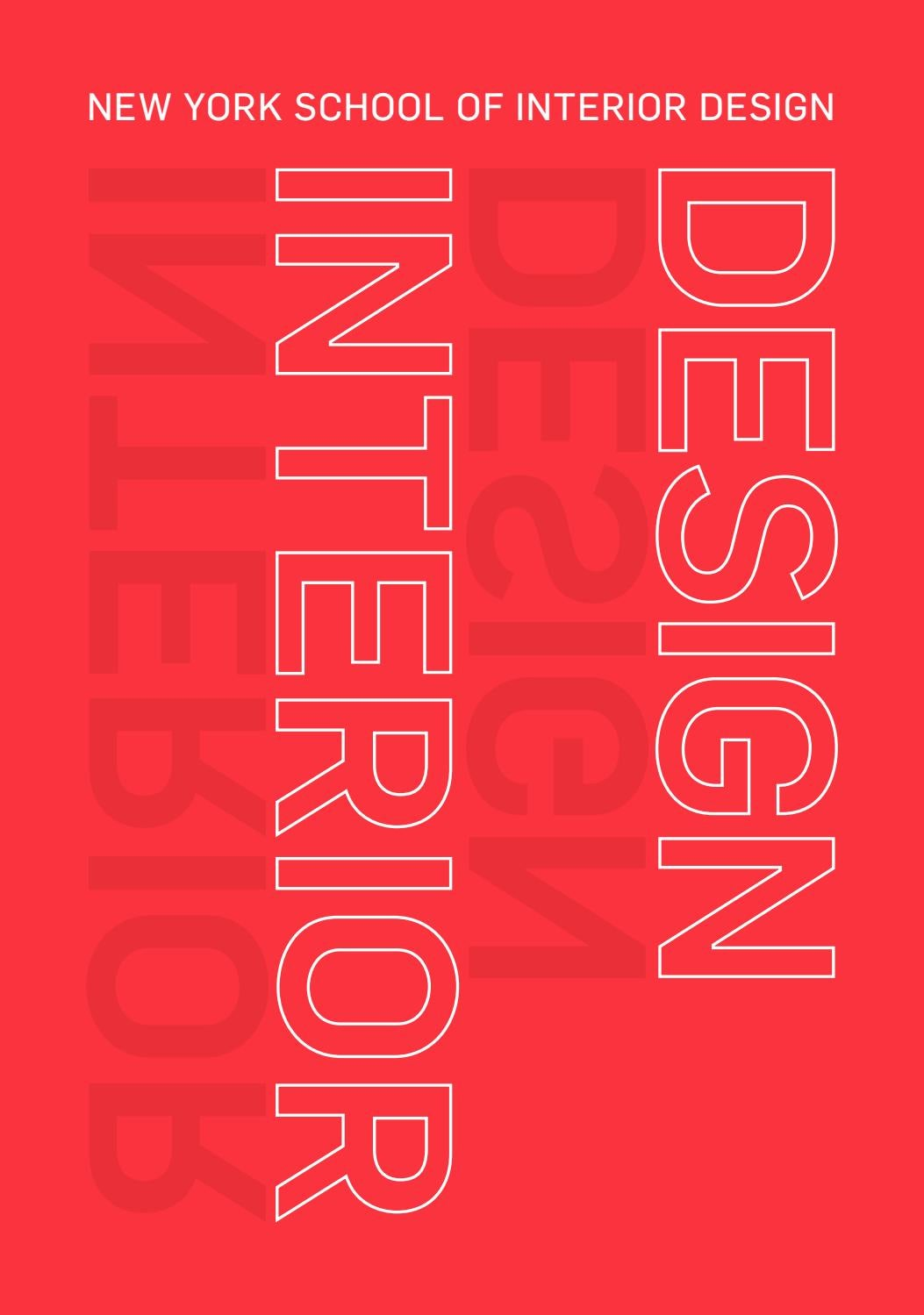 View Book 2017 2018 By New York School Of Interior Design Issuu