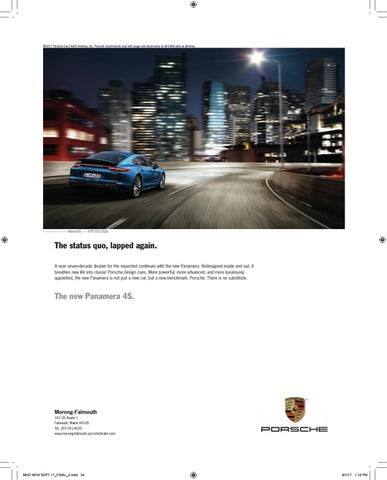 2017 Porsche Cars North America Inc Recommends Seat Belt Usage And Observance Of All Traffic Laws At Times