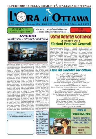 Page 1. IL PERIODICO DELLA COMUNITÀ ITALIANA DI OTTAWA 0ccd095504ad