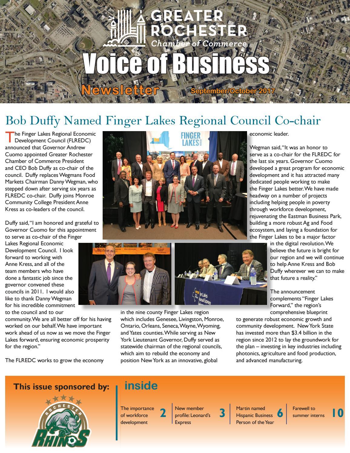 September/October 2017 Newsletter by Rochester Chamber - issuu