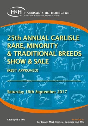 Carlisle Rare & Minority Breed Sale 160917