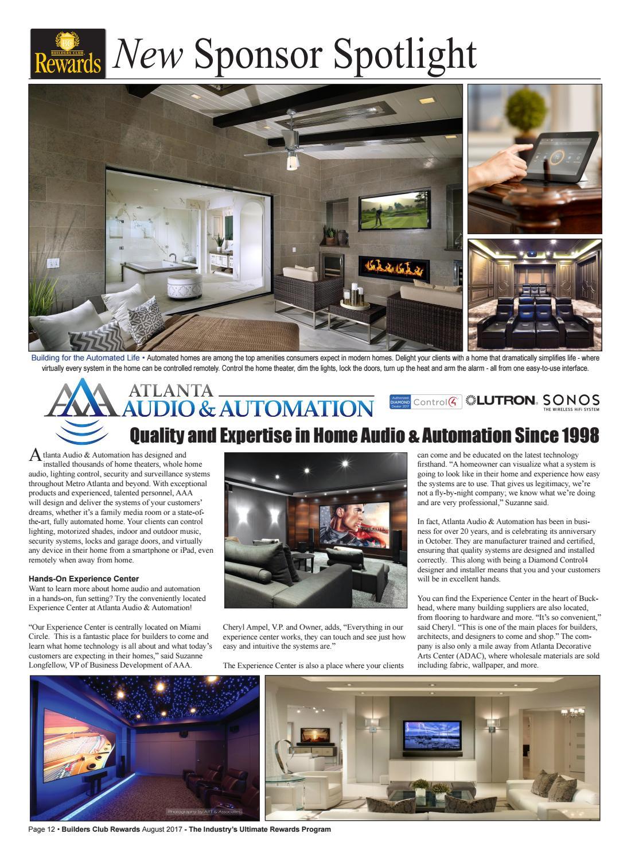 Atlanta Audio & Automation joins Builders Club of Atlanta by