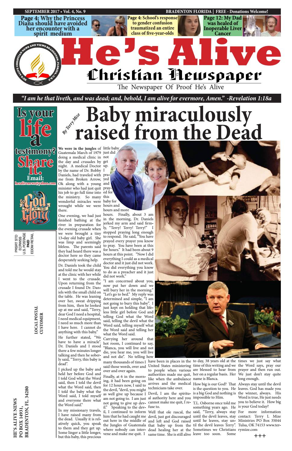He,s Alive September 2017 by He's Alive Christian News And