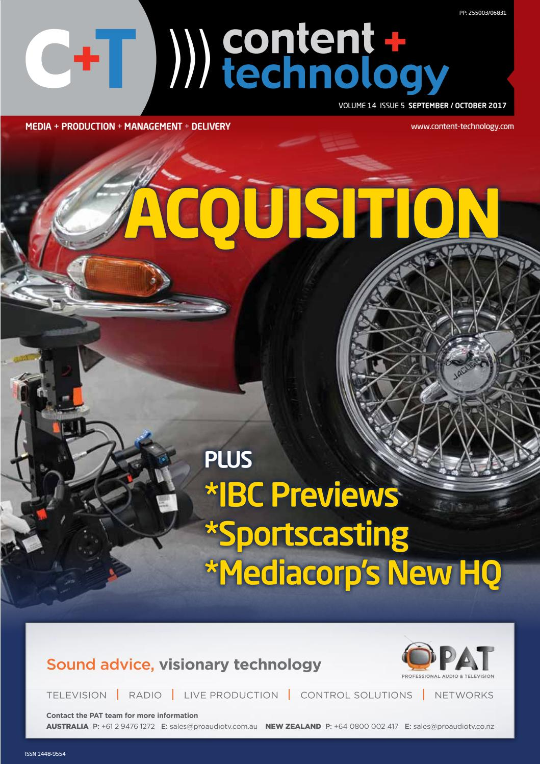Content Technology Anz September October 2017 By Broadcastpapers Pty Dc Motor 148 Gear Ratio Smart Car Robot Wheel Ltd Issuu