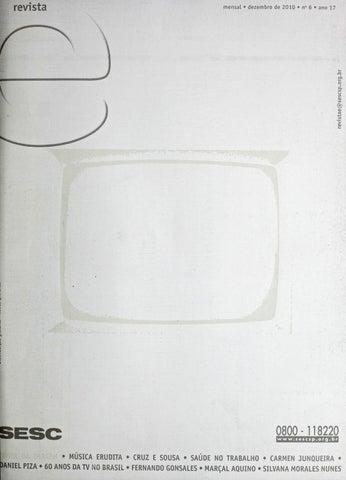 Revista E - Dezembro de 2010 - ANO 17 - Nº 6 by Sesc em São Paulo ... 0b11f3e9877
