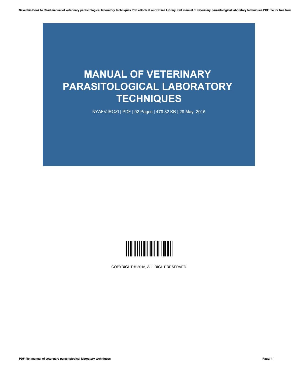 Parasitology for veterinarians ebook array manual of veterinary parasitological laboratory techniques various rh fandeluxe Image collections