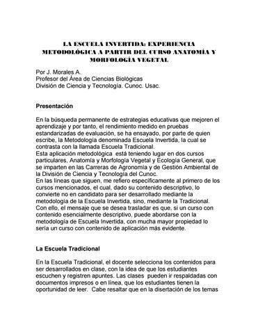La escuela invertida (Morales Alistun) by Ciencia y Tecnología CUNOC ...
