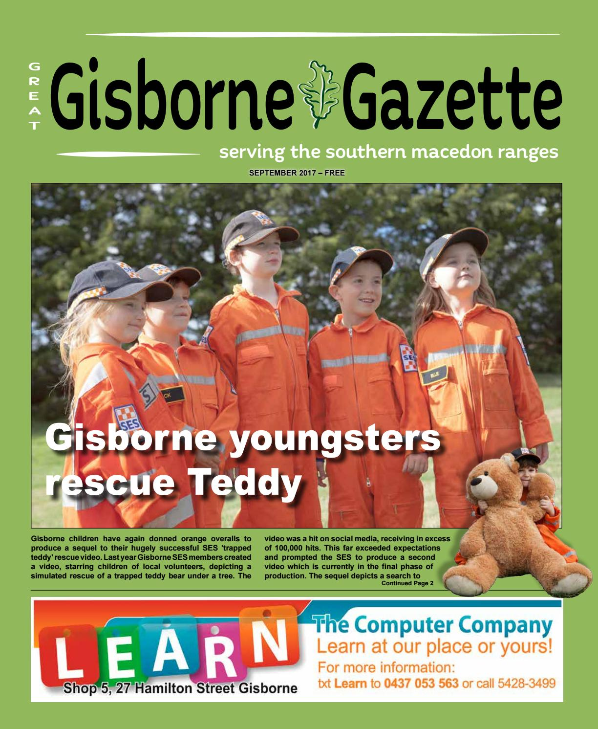 Gisborne Gazette September 2017 By Gisborne Gazette Issuu