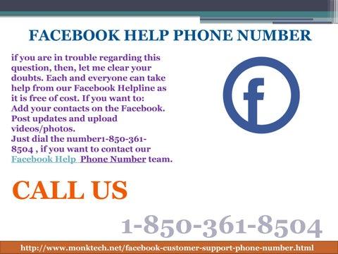 Facebook Help Phone Number 1-850-361-8504: A Procedure by