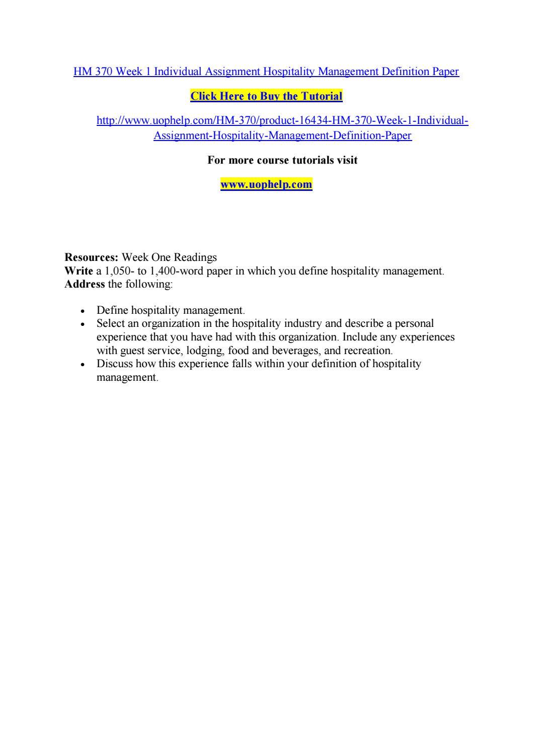 Definition essay on management