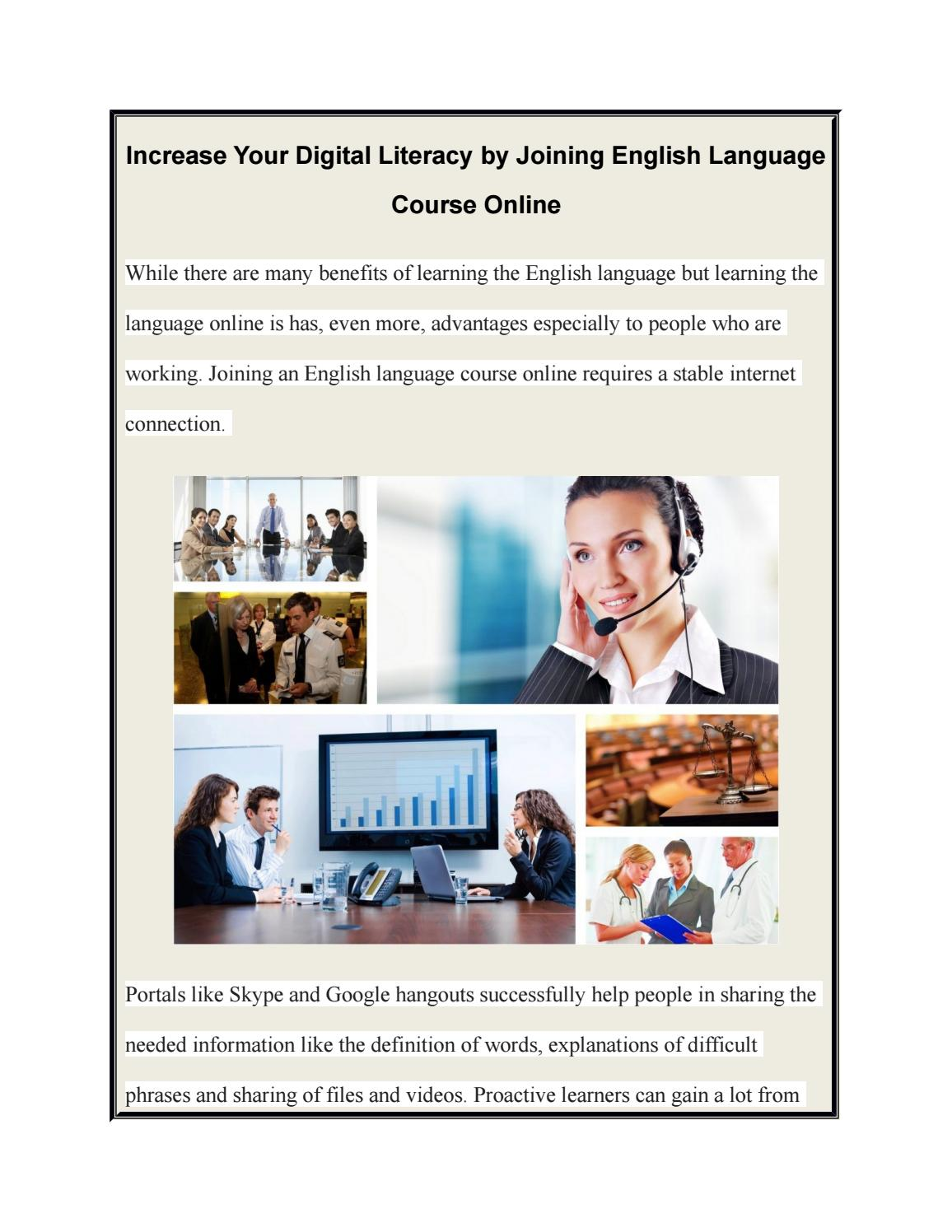 Advantages of learning English by Skype